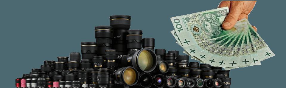 skup obiektywow i skup aparatów